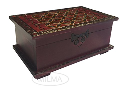 Celtic Chest Box Secret Puzzle Wooden Box Polish Handmade Secret Opening Trick Lock Celtic Keepsake (Puzzle Boxes Secret compare prices)