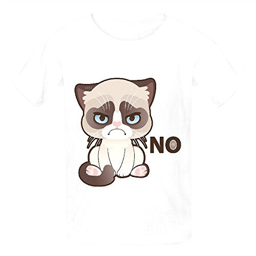 Grumpy Cat Mid Teen Crew Neck Graphic T-shirt (Bowser Fancy Dress)