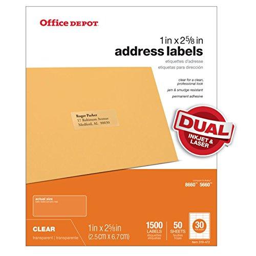 c1582c933bf7 Office Depot Brand Address Labels, OD99312, 1