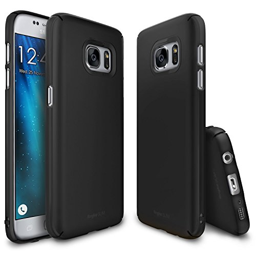 Ringke [Slim] Compatible with Galaxy S7 Case Dazzling Slender [Laser Precision Cutouts] Fashionable Superior Steadfast Bolstered PC Hard Skin Cover for Samsung Galaxy S7 - Black