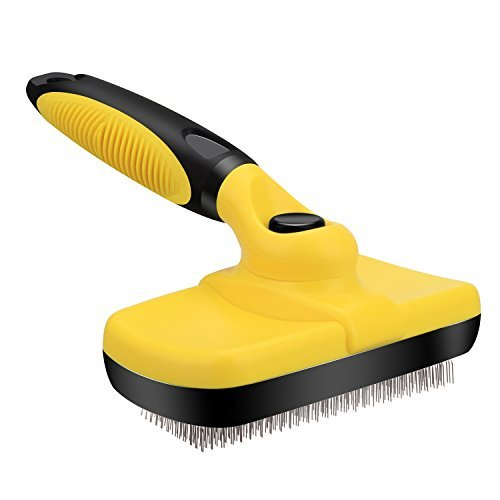 Self Cleaning Dog Slicker Brush, Overfly Pet Grooming Brush for Dogs and Cats, Removes Mats, Tangles and Loose Hair