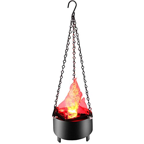Electric LED Flame Fire Light Hanging Brazier Lamp Simulated 3D Fire Flame Lighting for Halloween Christmas Party Bar Stage Home Decoration]()