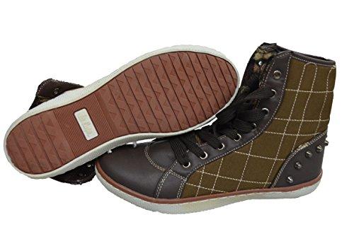 Lee Cooper Chaussures Combi Haute/Basse 36 37 38 39 40 Neuves Marron
