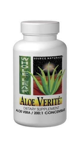 Source Naturals Aloe Verite Whole Leaf, 30 (Aloe Vera Juice Tabs)