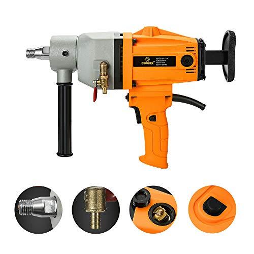Diamond Core Drilling Machine 180mm 7.1 Inch Max Diamond Core Drill Rig Wet/Dry Drilling for Diamond Concrete Drilling 220V 3000W