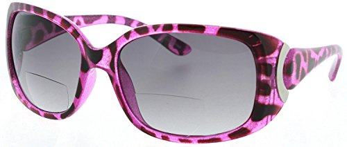 Womens Bifocal Sunglasses Sun Readers Stylish Leopard Print - Leopard Glasses Print
