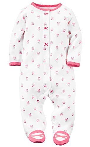 Carter's Baby Girls' Cotton Sleep and Play (Hibiscus, Newborn)