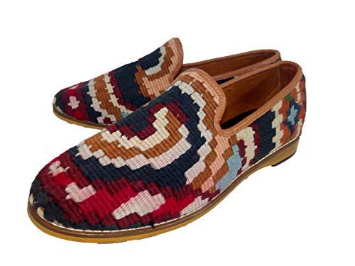 AnkaCraft Handmade (42-EU) Kilim Shoes Authentic Rugs Handwoven Carpets Turkish Gift Loafers