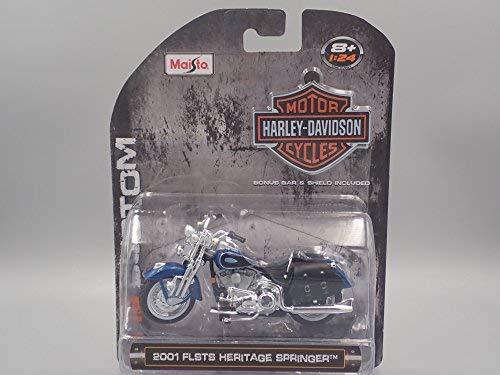 2001 FLSTS HERITAGE SPRINGER HARLEY DAVIDSON MOTORCYCLE 1:24 DIECAST MODEL - Heritage Springer Diecast Motorcycle