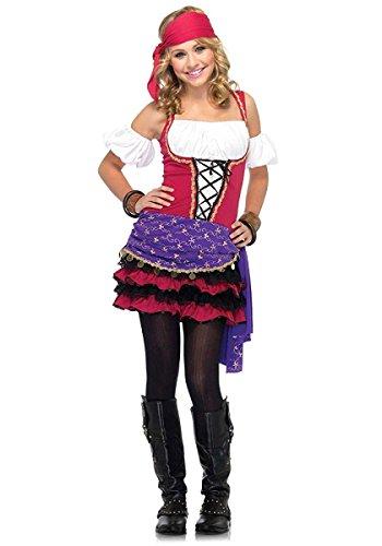 Scary Gypsy Halloween Costume (Leg Avenue - Crystal Ball Gypsy Sm/Med - 10-12)