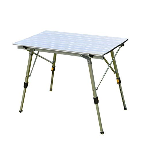 HGFDSA Mesa Plegable Al Aire Libre 90 * 53cm Aleacion De Aluminio Mesa De Picnic Duradera a Prueba De Agua para Barbacoa De Viaje De Camping