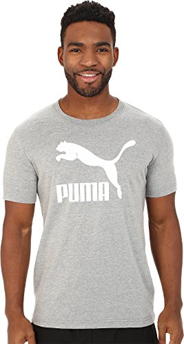 PUMA Men's Archive Life T-Shirt Shirt, Medium Gray Heather-White, 3XL