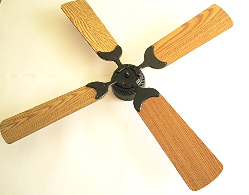 Global Electric 42-inch Non-Brush Ceiling Fan for RV, Oil Rubbed Bronze Finish with Wall Control. Oak /Light Oak Reversible Blades by Global Electric
