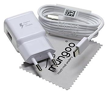 Cargador para Original Flash rápido Samsung 2A + USB Cable de tipo C Cable de carga de datos para Samsung Galaxy S8 (G950F) con mungoo pantalla paño ...