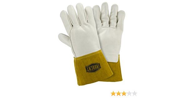 Small West Chester IRONCAT 6010 Premium Top Grain Cowhide Leather MIG Welding Gloves 12 Pairs