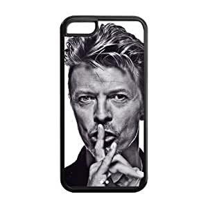 David Bowie Solid Rubber Customized Cover Case for iPhone 5c 5c-linda572