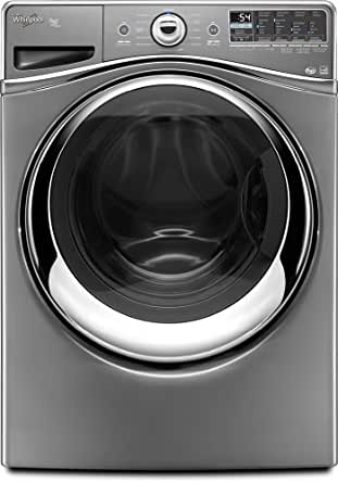 Whirlpool WFW96HEAU Duet 4.3 Cu. Ft. Stainless Look Stackable With Steam Cycle Front Load Washer - Energy Star