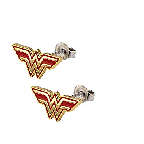 Stainless Steel Post with Wonder Woman Logo Stud ()