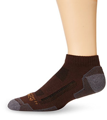 Carhartt Men's Force High Performance Low Cut Socks, Brown,