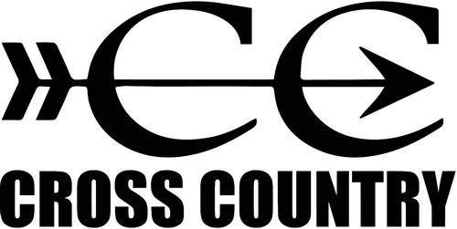Cross Bumper Country Stickers (Cross Country Vinyl Decal Sticker Bumper Car Truck Window- 6