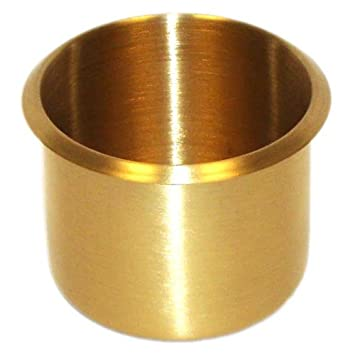 SET Of 10 Brass Poker Table CUP Holders