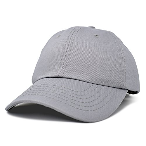 Blank Baseball Caps - Dalix Unisex Unstructured Cotton Cap Adjustable Plain Hat, Gray