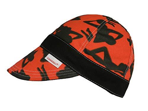 Red/Black Comeaux Caps Reversible Welding Cap Silhouette 7 3/8