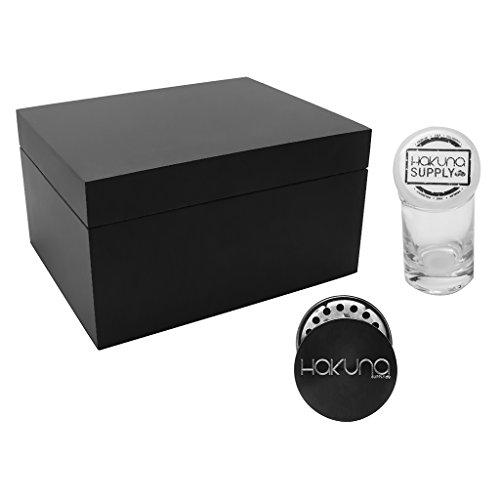 Hakuna Supply Original Black Stash Box (Decorative Solid Storage Boxes)