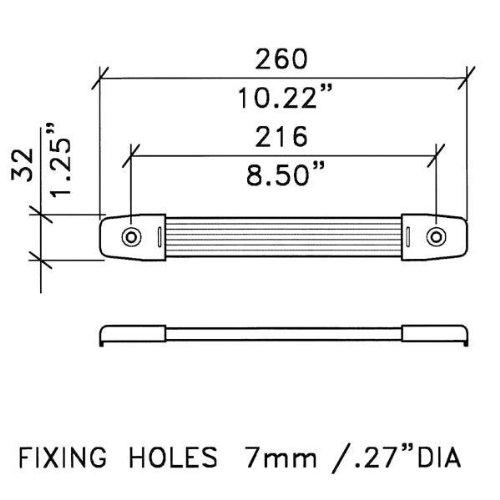 Penn-Elcom H1014N Extra Wide Strap Handle Nickel End Caps