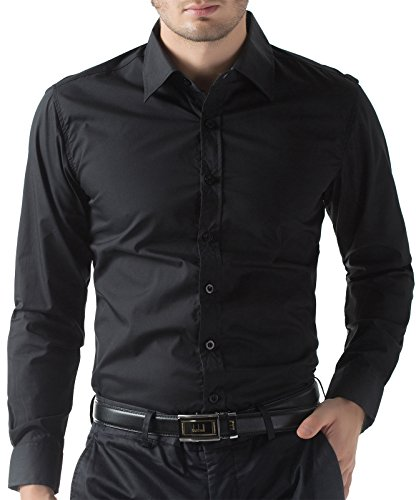 Men's Casual Business Long Sleeve Shirt Button Down