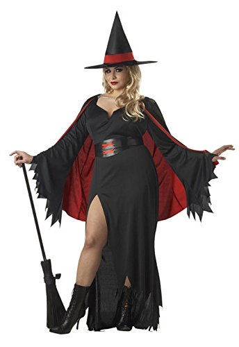 [Mememall Fashion Classic Plus Size Scarlet Witch Adult Costume] (Sexy Witch Costumes Plus Size)