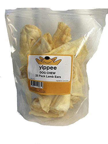Lamb Ears 25 Pack - 100% Organic, Completely Safe, Fully Digestible, Highest Quality Lamb from New Zealand Farms, Low Odor, YOUR DOG WILL LOVE THEM! Yippee Brand is the best!. by yippee