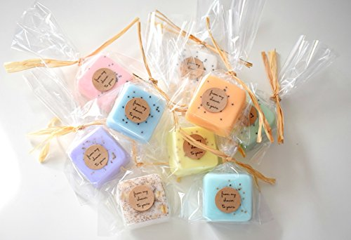 Wedding Favors: 75 Mini Soap Favors for Wedding Favors, Bridal Shower Favors, or Baby Shower Favors by kitschandfancy