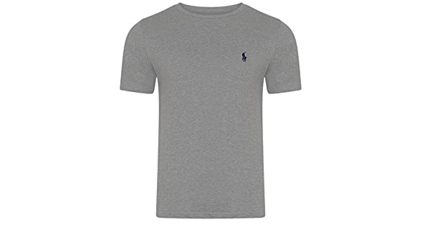 Ralph Lauren - Camiseta - Básico - Cuello Redondo - Manga Corta - para  Hombre Gris Gris Claro Large  Amazon.es  Ropa y accesorios 13d376f3e02