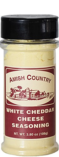 Cheddar Flavor - Amish Country Popcorn - White Cheddar Cheese Popcorn Seasoning (3.8 Oz) Bursting with Old Fashioned Cheese Flavor - with Recipe Guide and 1 Year Extended Freshness Warranty