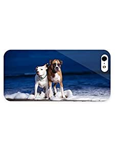 3d Full Wrap Case for iPhone 4s Animal Dogs On The Beach