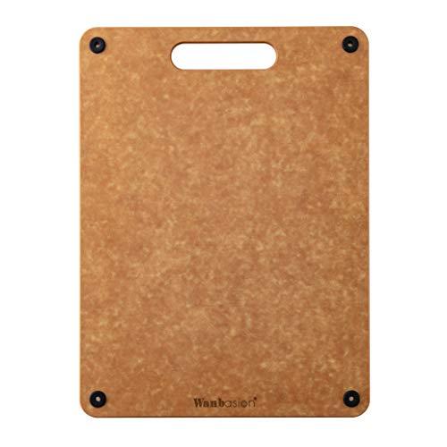 - Wanbasion Cutting Board Wood Dishwasher Safe, Cutting Board Kitchen Wood Fiber, Cutting Board Natural Wood Durable for Kitchen