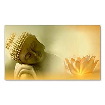 Bouddha Avec Le Carte De Visite Lotus