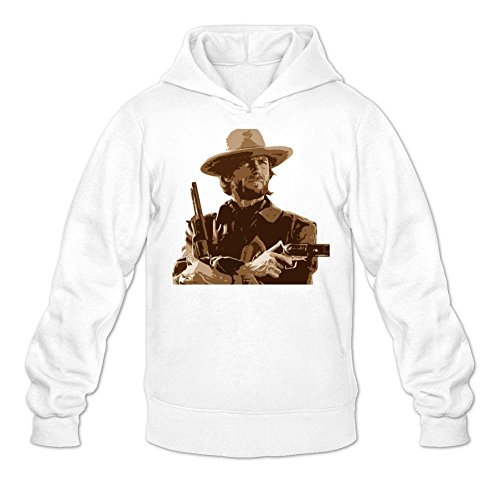 Tommery Men's Clint Eastwood Long Sleeve Sweatshirts Hoodie (Letters From Guantanamo)
