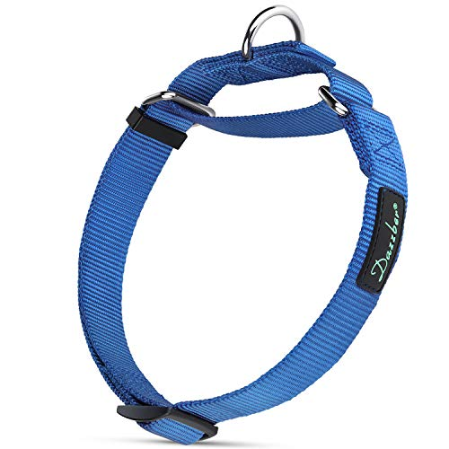 Dazzber Safety Training Martingale Collars, Large, Royal Blue,Neck 15-25, No Pull No Escape Dog Collar, Great for Walking Running