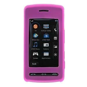 LG Vu Rubber Silicone Case Skin Cover Pink CU 920 CU920