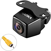 NATIKA Backup Camera with Waterproof Starlight Night Vision 720P 1280×720 Pixels High Definition and 170 Degree Super Wide Angle Reverse Rear View Camera for Cars Jeep SUV RV Van Trucks Micro Bus etc