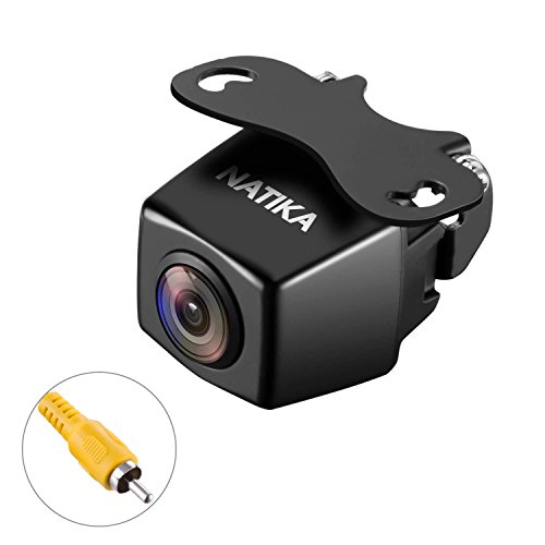NATIKA 720P Backup/Front/Side View Camera, IP69K Waterproof Starlight Night Vision 1280×720 Pixels High Definition and Super Wide Angle Reverse Rear View Backup Camera for Cars Jeep Trucks SUV RV Van by Natika