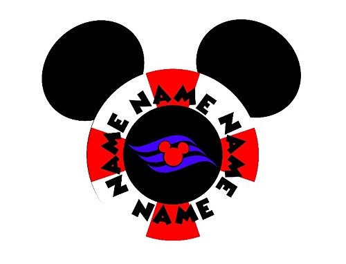 Personalized Disney Life Saver Mickey Inspired Magnet for Disney Cruise with your Name (Lifesavers Personalized)