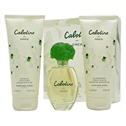 Cabotine By Parfums Gres For Women. Set-edt Spray 3.4 OZ & Body Lotion 6.7 OZ & Shower Gel 6.7 OZ by Parfums Gres