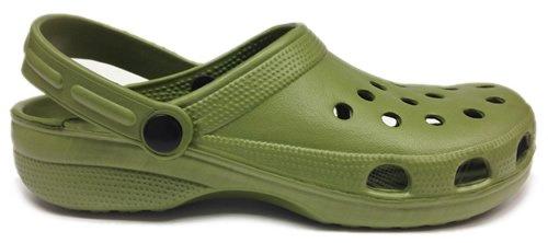 Plage of World de Clogs en Kaki Vert Jardin Vert Sabots Chaussures Plastique pYdd7qOw