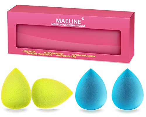 Beauty Sponge Blender, Natural PRO Multi-Functional Latex Free Makeup Sponges - Blend Foundation, Highlight and Contour Like a PRO Recommended by Top Makeup Artists, Makes Great - Mall Spring Hills