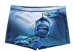 BeautyIn Boys Swimming Shorts Animal Swimwear Bottom ,Blue(Fulfilled By Amazon),4-5 Years