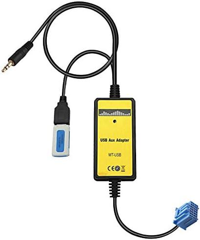 RETYLY カーMP3電話 AUX USBアダプター 3.5ミリメートルのケーブル AUXiliary CDオート?チェンジャー?アダプター 2.3 、 Civic/Accord/Odyssey/CRV QX006に適用して