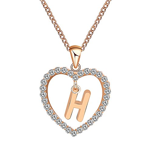 Gbell Fashion Girls Women A-Z Letters Necklaces Charms,26 English Alphabet Name Chain Pendant Necklaces Jewelry Birthday Gifts, Ideal Party Costume,Wedding,Engagement